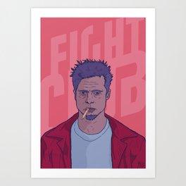 Tyler Durden by FrameIlustrado Art Print