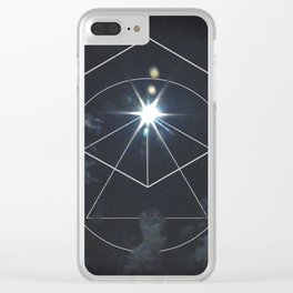 Eclipse Geometry Clear iPhone Case