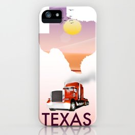 Texas trucking poster iPhone Case