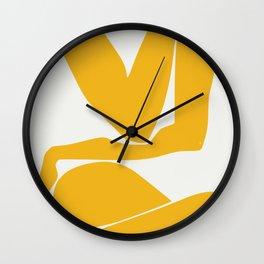 Yellow anatomy Wall Clock