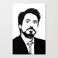 robert downey jr Canvas Prints featuring Robert Downey Jr. by ItalianBrush
