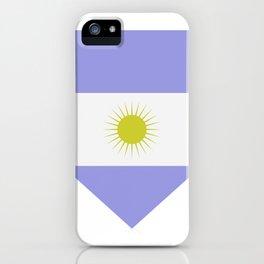 Argentine flag iPhone Case