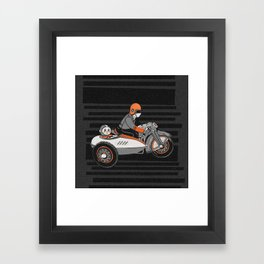 """Wind it Up"" Toy Motorcycle Framed Art Print"