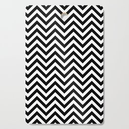 Black and White Chevron Cutting Board
