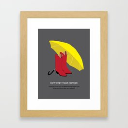HIMYM Couples - Ted & Mother Framed Art Print