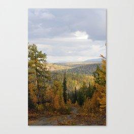 Landscape of sub-polar ural mountains Canvas Print