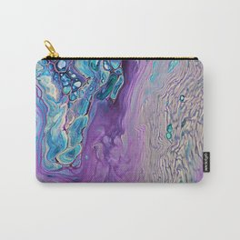 Purple Fluid Acrylic Abstract Painting - Slow Down  III Carry-All Pouch