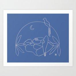 Dreamers no.2 (blue) Art Print
