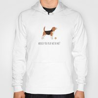 beagle Hoodies featuring BEAGLE by CharmArtStudio
