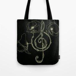 Music & poppy Tote Bag