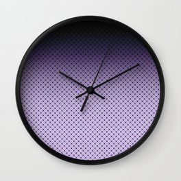 Black and purple Ombre Wall Clock