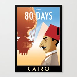 80 Days : Cairo Canvas Print