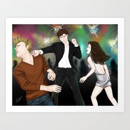dance floor action Art Print
