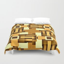 Gold Beige Pipe System,Streampunk Duvet Cover