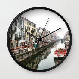 Milano Navigli - Italy Wall Clock