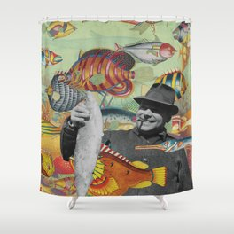 Plenty More Fish Floating Nearby Shower Curtain