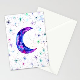 Dreamy Crescent Moon Phase Stationery Cards