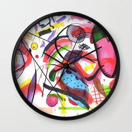 The Hot Mess Composition VIII Ripoff Wall Clock