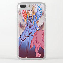 Wolf Princess Moonrabbit (pink wolf) Clear iPhone Case