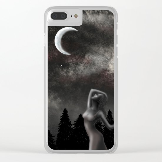 Dancing Under the Moonlight Clear iPhone Case