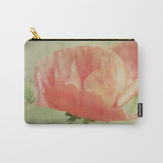 Big Poppy digital Paintings Carry-All Pouch