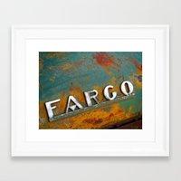 fargo Framed Art Prints featuring Fargo by Photo by Malin Linder