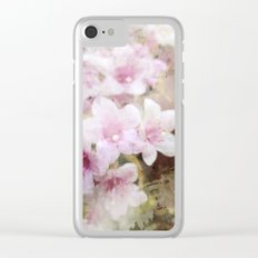 Floral Pink Clear iPhone Case