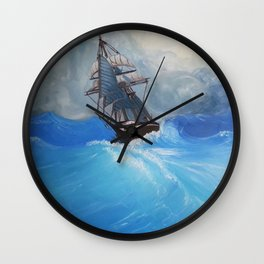 The Roiling Wake Wall Clock