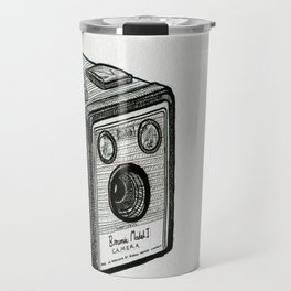 Kodak Box Brownie Camera Illustration Travel Mug