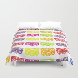 Colorful Papel Picado Duvet Cover