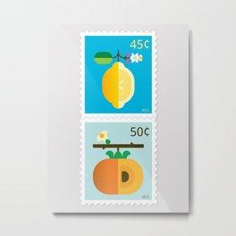 Fruit: Lemon & Persimmon Metal Print
