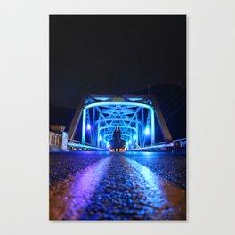 Fluorescent Bridge Canvas Print