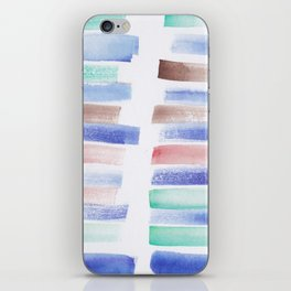22  | 181101 Watercolour Palette Abstract Art | Lines | Stripes | iPhone Skin