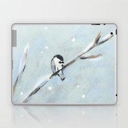 chickadee on a branch Laptop & iPad Skin