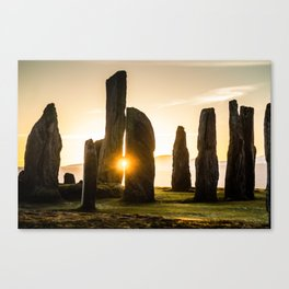 Callanish Winter Sunset Canvas Print