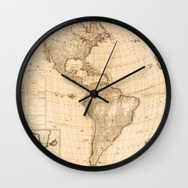 Map of North & South America (1786) Wall Clock