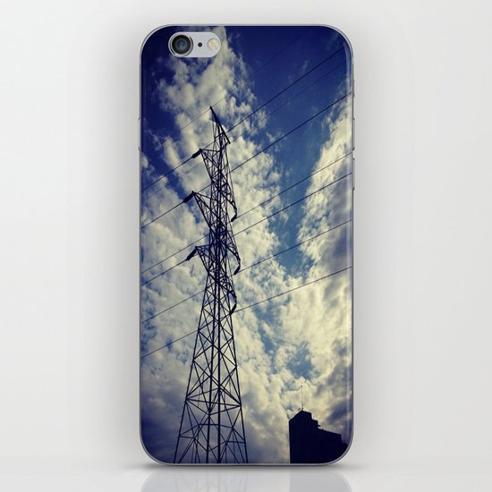 Heavenly spring sky in an industrial world iPhone & iPod Skin