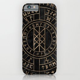 Web of Wyrd The Matrix of Fate- Marble and gold iPhone Case