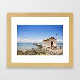 Sirens Boathouse & Kiosk Framed Art Print