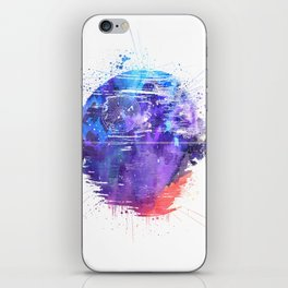 Death Star Watercolor iPhone Skin