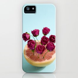 Grapefruit and red roses iPhone Case