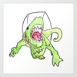 Space T-Rex Art Print