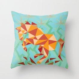 Dancing Mustang // Digital // Illustration Throw Pillow