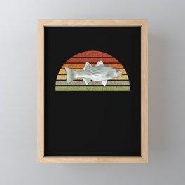 F12 Striped Bass Retro Sun 1.2 Framed Mini Art Print