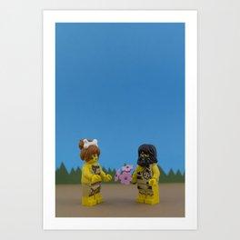 Caveman Valentine's Day Art Print