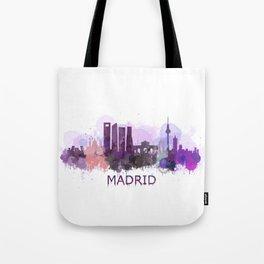 Madrid City Skyline HQ Tote Bag