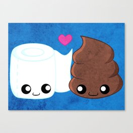 The Best of Friends - Toilet Paper and Poop Canvas Print