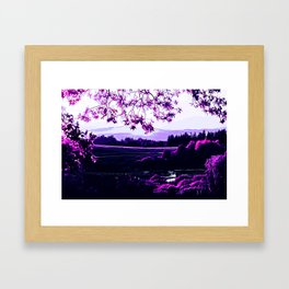 idyllic nature landscape vadb Framed Art Print