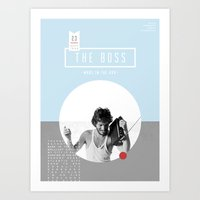 springsteen Art Prints featuring The Boss by ByJessieKay