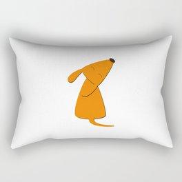 Orange dog Rectangular Pillow